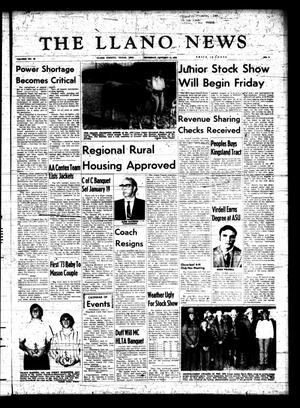 Primary view of object titled 'The Llano News (Llano, Tex.), Vol. 82, No. 9, Ed. 1 Thursday, January 11, 1973'.