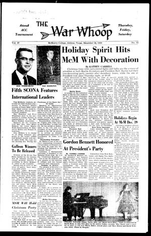 The War Whoop (Abilene, Tex.), Vol. 37, No. 12, Ed. 1, Wednesday, December 16, 1959