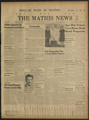 Primary view of object titled 'The Mathis News (Mathis, Tex.), Vol. 55, No. 44, Ed. 1 Thursday, October 17, 1963'.