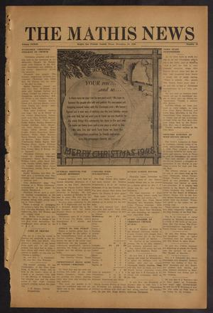 Primary view of object titled 'The Mathis News (Mathis, Tex.), Vol. 33, No. 52, Ed. 1 Friday, December 24, 1948'.