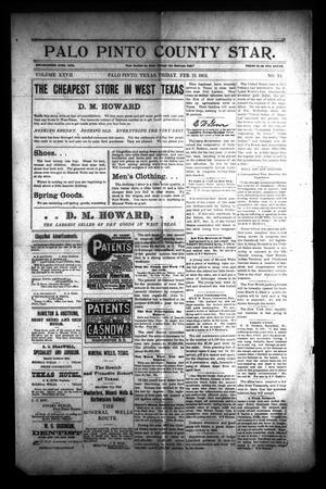 Palo Pinto County Star. (Palo Pinto, Tex.), Vol. 27, No. 34, Ed. 1 Friday, February 13, 1903