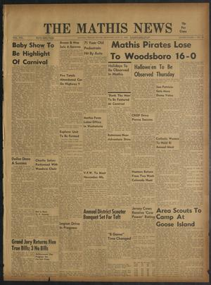 Primary view of object titled 'The Mathis News (Mathis, Tex.), Vol. 55, No. 46, Ed. 1 Thursday, October 31, 1963'.