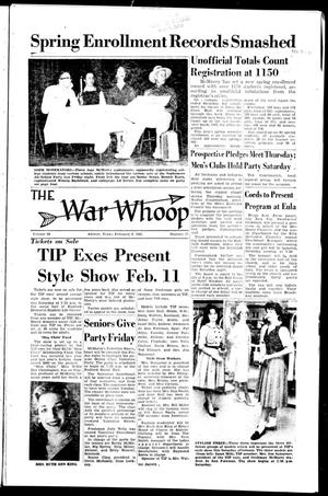 The War Whoop (Abilene, Tex.), Vol. 38, No. 17, Ed. 1, Wednesday, February 8, 1961