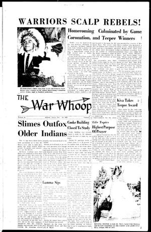 Primary view of object titled 'The War Whoop (Abilene, Tex.), Vol. 39, No. 6, Ed. 1, Tuesday, October 24, 1961'.