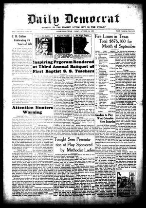 Daily Democrat (Goose Creek, Tex.), Vol. 1, No. 215, Ed. 1 Friday, October 24, 1930