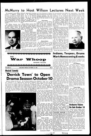 Primary view of object titled 'The War Whoop (Abilene, Tex.), Vol. 41, No. 5, Ed. 1, Thursday, October 10, 1963'.