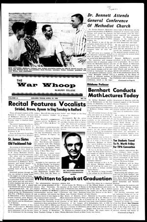 Primary view of object titled 'The War Whoop (Abilene, Tex.), Vol. 41, No. 24, Ed. 1, Thursday, April 23, 1964'.