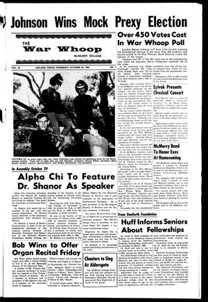 Primary view of object titled 'The War Whoop (Abilene, Tex.), Vol. 42, No. 7, Ed. 1, Thursday, October 22, 1964'.
