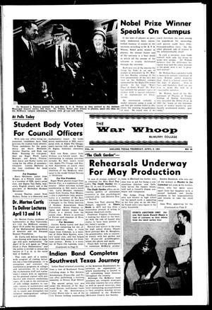 Primary view of object titled 'The War Whoop (Abilene, Tex.), Vol. 42, No. 22, Ed. 1, Thursday, April 8, 1965'.
