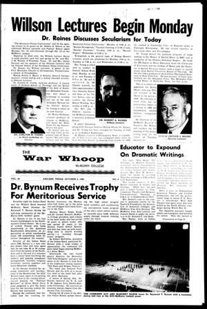 Primary view of object titled 'The War Whoop (Abilene, Tex.), Vol. 44, No. 4, Ed. 1, Wednesday, October 5, 1966'.