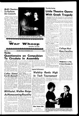 Primary view of object titled 'The War Whoop (Abilene, Tex.), Vol. 44, No. 8, Ed. 1, Wednesday, November 9, 1966'.