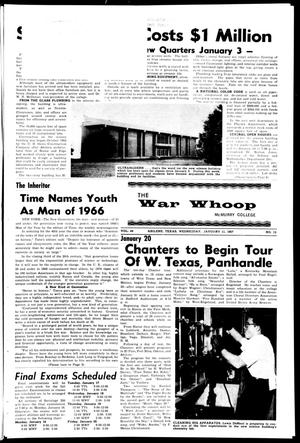 Primary view of object titled 'The War Whoop (Abilene, Tex.), Vol. 44, No. 13, Ed. 1, Wednesday, January 11, 1967'.