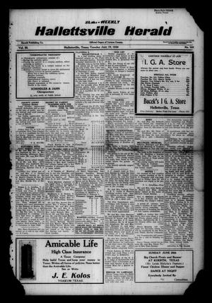 Primary view of object titled 'Semi-weekly Hallettsville Herald (Hallettsville, Tex.), Vol. 55, No. 101, Ed. 1 Tuesday, June 19, 1928'.