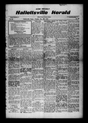 Primary view of object titled 'Semi-weekly Hallettsville Herald (Hallettsville, Tex.), Vol. 55, No. 89, Ed. 1 Tuesday, May 8, 1928'.