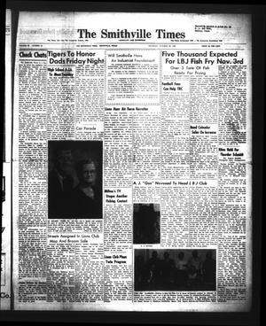 Primary view of object titled 'The Smithville Times Transcript and Enterprise (Smithville, Tex.), Vol. 68, No. 44, Ed. 1 Thursday, October 29, 1959'.