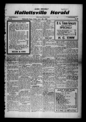 Primary view of object titled 'Semi-weekly Hallettsville Herald (Hallettsville, Tex.), Vol. 55, No. 80, Ed. 1 Friday, April 6, 1928'.