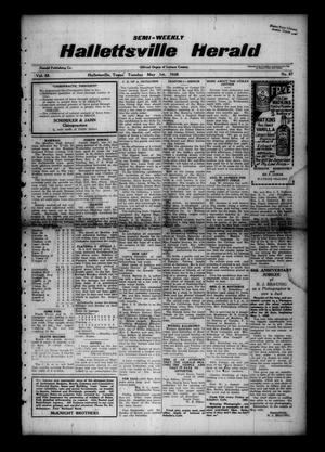 Primary view of object titled 'Semi-weekly Hallettsville Herald (Hallettsville, Tex.), Vol. 55, No. 87, Ed. 1 Tuesday, May 1, 1928'.