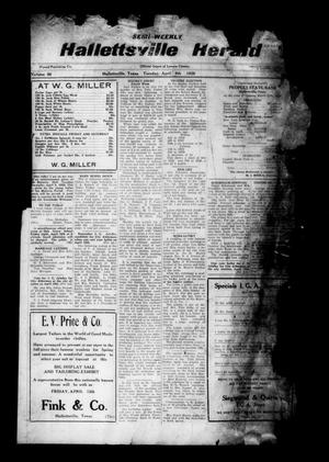 Primary view of object titled 'Semi-weekly Hallettsville Herald (Hallettsville, Tex.), Vol. 56, No. [77], Ed. 1 Tuesday, April 9, 1929'.