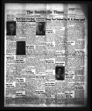 Primary view of object titled 'The Smithville Times Transcript and Enterprise (Smithville, Tex.), Vol. 68, No. 6, Ed. 1 Thursday, February 5, 1959'.