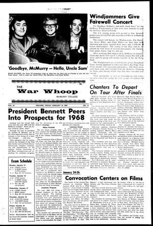 The War Whoop (Abilene, Tex.), Vol. 45, No. 13, Ed. 1, Wednesday, January 10, 1968