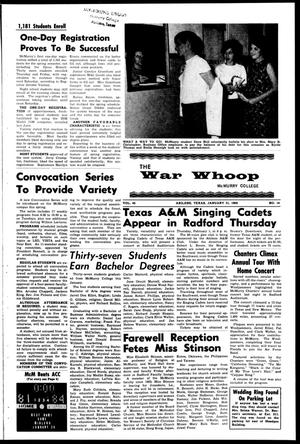 The War Whoop (Abilene, Tex.), Vol. 45, No. 14, Ed. 1, Wednesday, January 31, 1968
