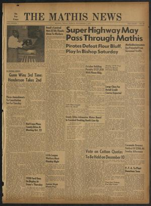 Primary view of object titled 'The Mathis News (Mathis, Tex.), Vol. 42, No. 45, Ed. 1 Friday, November 1, 1957'.