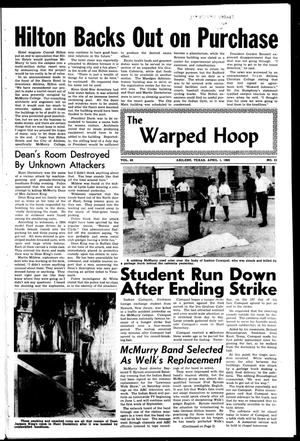 Primary view of object titled 'The War Whoop (Abilene, Tex.), Vol. 45, No. 21, Ed. 1, Monday, April 1, 1968'.