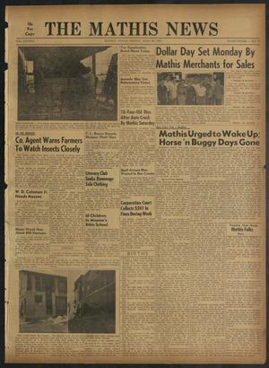 Primary view of object titled 'The Mathis News (Mathis, Tex.), Vol. 42, No. 27, Ed. 1 Friday, June 28, 1957'.