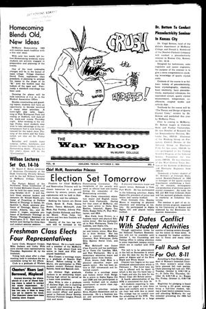 Primary view of object titled 'The War Whoop (Abilene, Tex.), Vol. 46, No. 3, Ed. 1, Wednesday, October 2, 1968'.