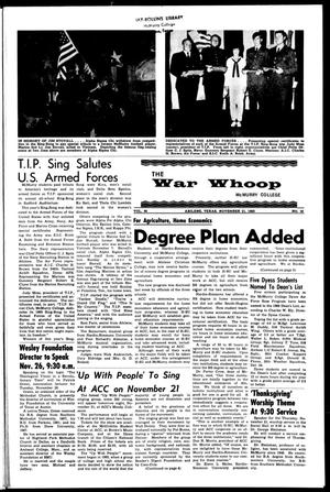 The War Whoop (Abilene, Tex.), Vol. 46, No. 10, Ed. 1, Thursday, November 21, 1968