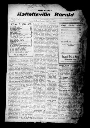 Primary view of object titled 'Semi-weekly Hallettsville Herald (Hallettsville, Tex.), Vol. 56, No. 75, Ed. 1 Tuesday, April 2, 1929'.