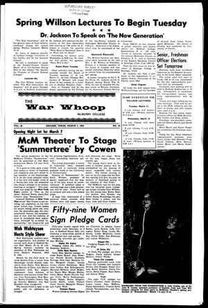 The War Whoop (Abilene, Tex.), Vol. 46, No. 19, Ed. 1, Wednesday, March 5, 1969