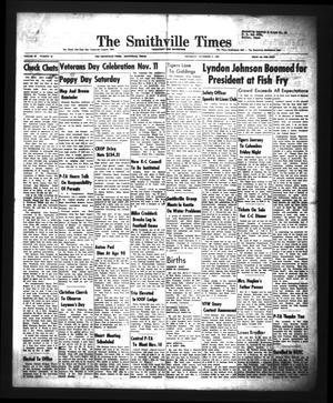 Primary view of object titled 'The Smithville Times Transcript and Enterprise (Smithville, Tex.), Vol. 68, No. 45, Ed. 1 Thursday, November 5, 1959'.