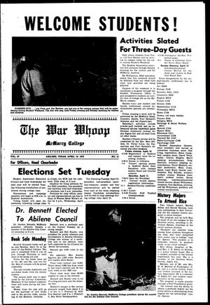 The War Whoop (Abilene, Tex.), Vol. 47, No. 21, Ed. 1, Friday, April 10, 1970