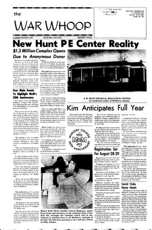 Primary view of object titled 'The War Whoop (Abilene, Tex.), Summer Edition, Wednesday, May 9, 1973'.