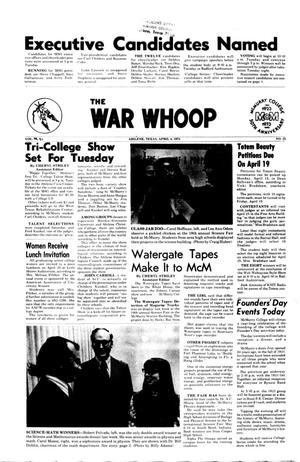Primary view of object titled 'The War Whoop (Abilene, Tex.), Vol. 51, No. 23, Ed. 1, Thursday, April 4, 1974'.