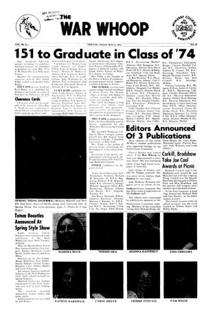 The War Whoop (Abilene, Tex.), Vol. 51, No. 27, Ed. 1, Thursday, May 2, 1974