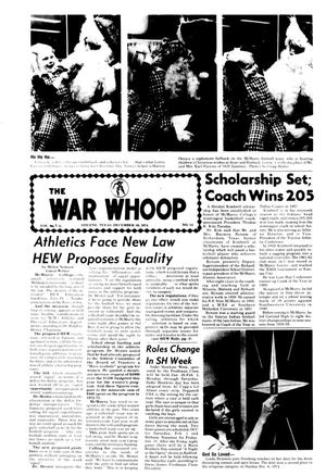 The War Whoop (Abilene, Tex.), Vol. 52, No. 14, Ed. 1, Monday, December 16, 1974