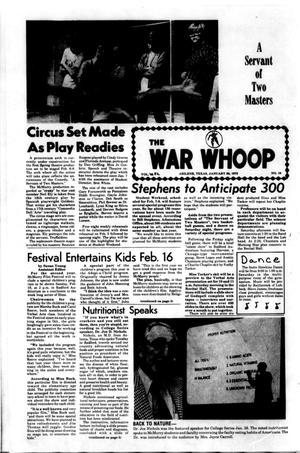 Primary view of object titled 'The War Whoop (Abilene, Tex.), Vol. 52, No. 16, Ed. 1, Thursday, January 30, 1975'.