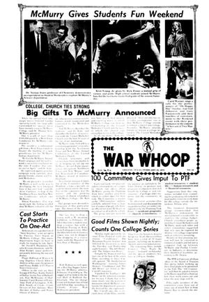 Primary view of object titled 'The War Whoop (Abilene, Tex.), Vol. 52, No. 18, Ed. 1, Thursday, February 13, 1975'.