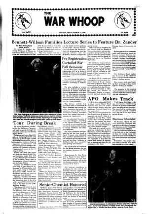 The War Whoop (Abilene, Tex.), Vol. 53, No. 20, Ed. 1, Thursday, March 11, 1976