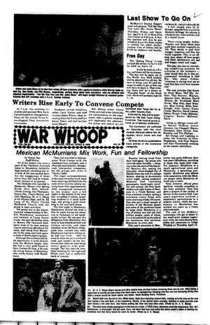 Primary view of object titled 'The War Whoop (Abilene, Tex.), Vol. 53, No. 21, Ed. 1, Thursday, April 8, 1976'.