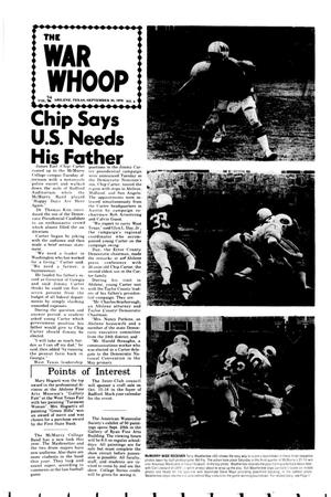 The War Whoop (Abilene, Tex.), Vol. 54, No. 4, Ed. 1, Thursday, September 30, 1976