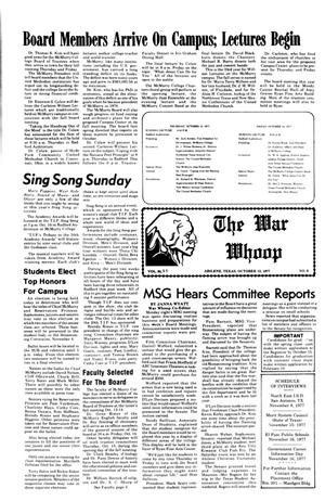 The War Whoop (Abilene, Tex.), Vol. 55, No. 6, Ed. 1, Thursday, October 13, 1977