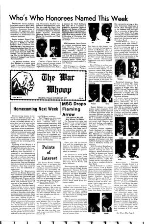 Primary view of object titled 'The War Whoop (Abilene, Tex.), Vol. 55, No. 8, Ed. 1, Thursday, October 27, 1977'.