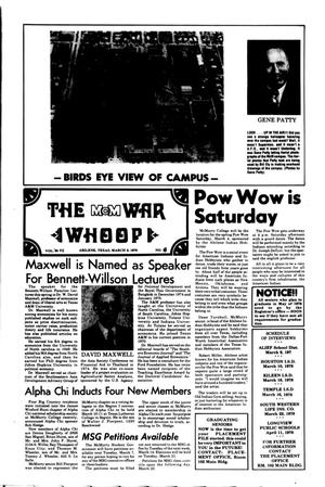 The McM War Whoop (Abilene, Tex.), Vol. 55, No. 18, Ed. 1, Thursday, March 2, 1978