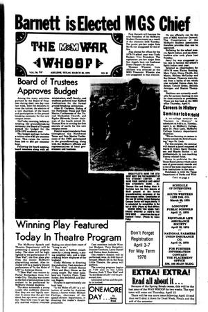 The McM War Whoop (Abilene, Tex.), Vol. 55, No. 21, Ed. 1, Thursday, March 23, 1978