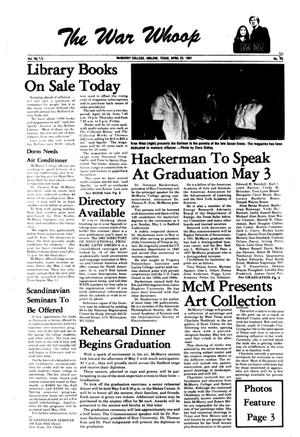 The War Whoop (Abilene, Tex.), Vol. 58, No. 22, Ed. 1, Thursday, April 23, 1981