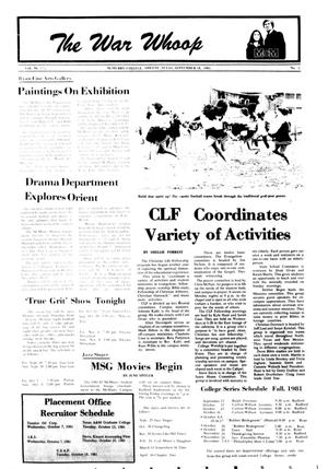 The War Whoop (Abilene, Tex.), Vol. 59, No. 2, Ed. 1, Friday, September 18, 1981