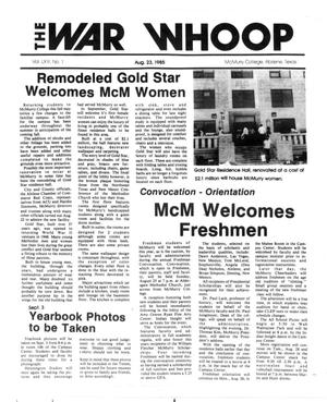 The War Whoop (Abilene, Tex.), Vol. 63, No. 1, Ed. 1, Friday, August 23, 1985